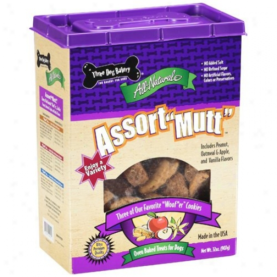 Three Dog Bakery Assort-mut Assorted Dog Treats, 32 Oz