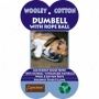 Abo Gear Dumbbell With Rope Ball Dog Toy