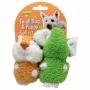 Booda 035348 Doskocil  Aspen Pet 2 Pack Elephant &  Chipmunk Small Dig &  Puppy Terry