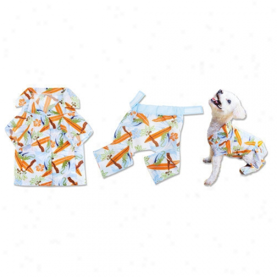 Trend Lab Pet Surf's Up Hzwaiian T-shirt And Board Shorts For Dog