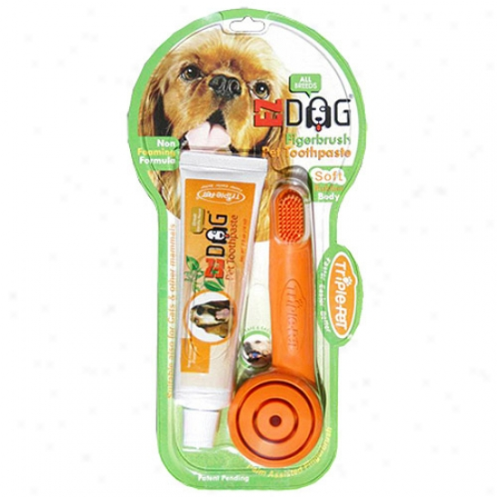 Triple-pet Ez Dog Pet Finger Brush Kit