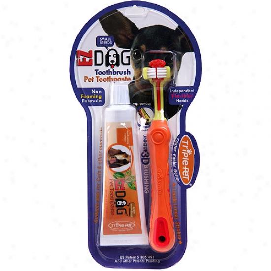 Triple-pet Ez Dog Small Originate Pet Dental Kit