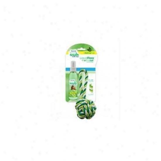 Tropiclean - Fresh Breath Liquidfloss Plue Triflossball Medium-large - 001275