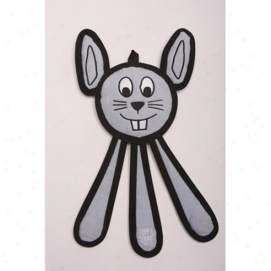 Tuff Enuff Danles Bunny Dog Toy In Pale Blue