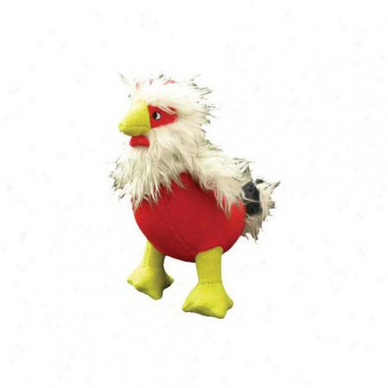 Tuffy's Pet Products Clucky Mcchick Farm Rooster Dog Toy