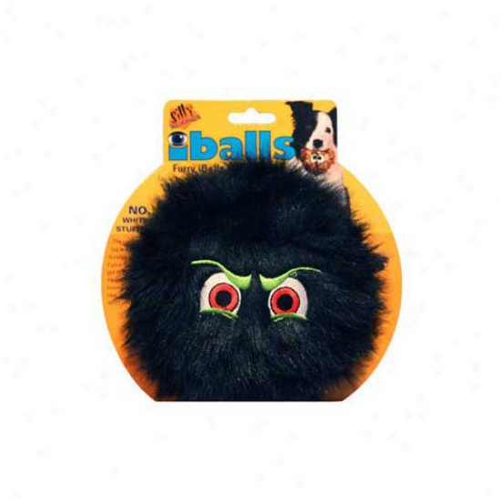 Tuffy's Pet Products Large Black Iballs Dog Toy