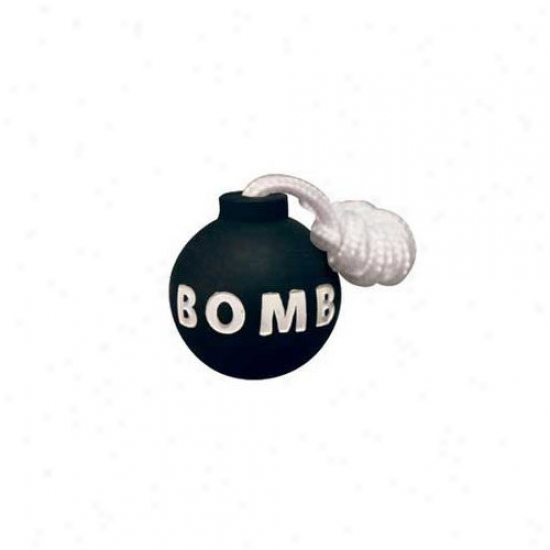 Tuffy's Pet Products Rugged Rubber Small Bomb Dog Toy
