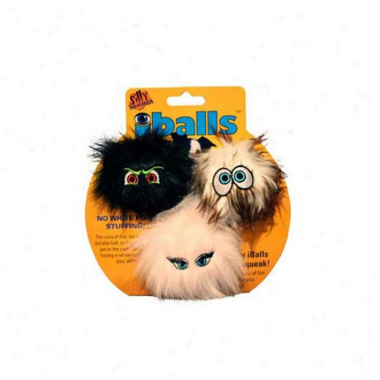 Tuffy's Pet Products Small Iballs Dog Toy