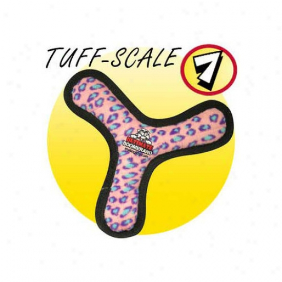 Tuffy's Pet Products Ultimate Boomerang Dog Toy In Pink Leopard