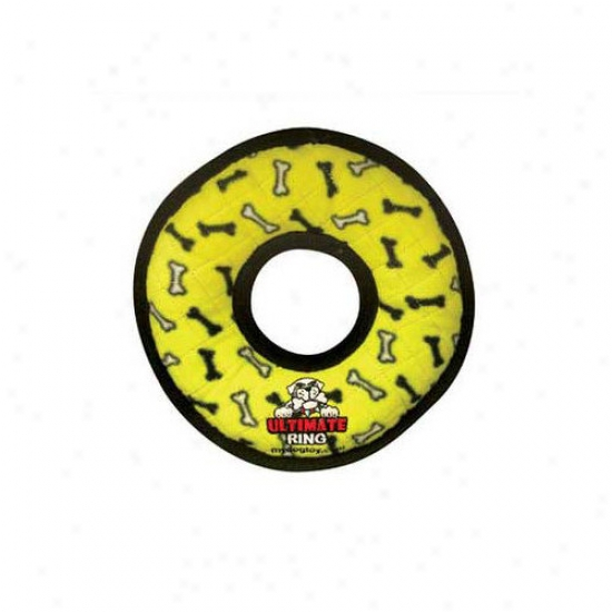 Tuffy's Pet Products Ultimate Ring Dog Toy In Yellow Boens