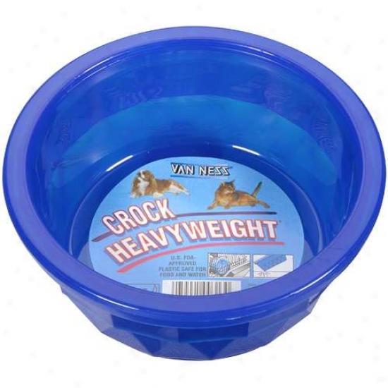 Van Nees Middle Trasnlucent Dog Crock Dish