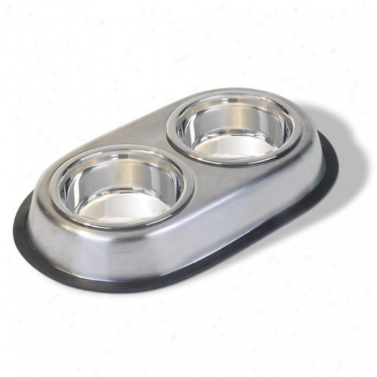 Front Ness Stainless Stesl Double Dog Dish
