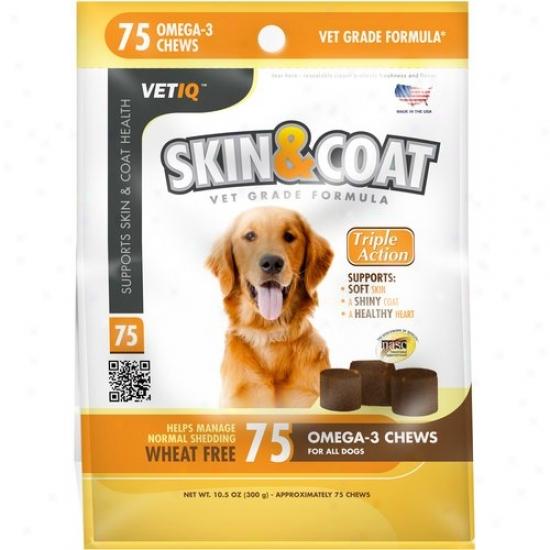 Vetoq Skin And Coat Vitamin Chews, 75-count