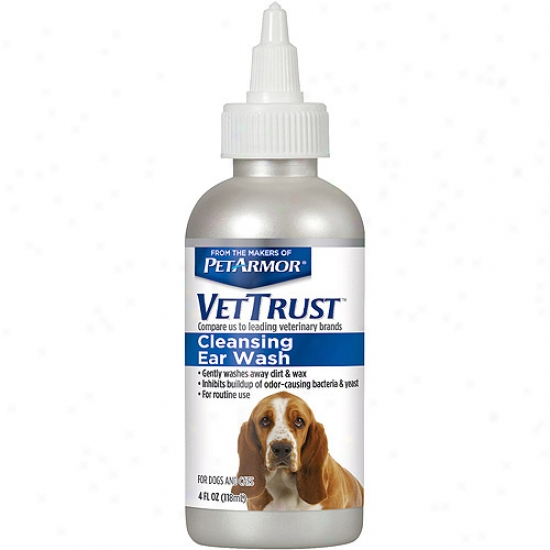 Vettrust Cleansing Ear Wash For Dogs & Cats, 4 Fl Oz
