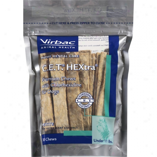 Virbac Cet Hextra Chews Dog Treat (30 Count)