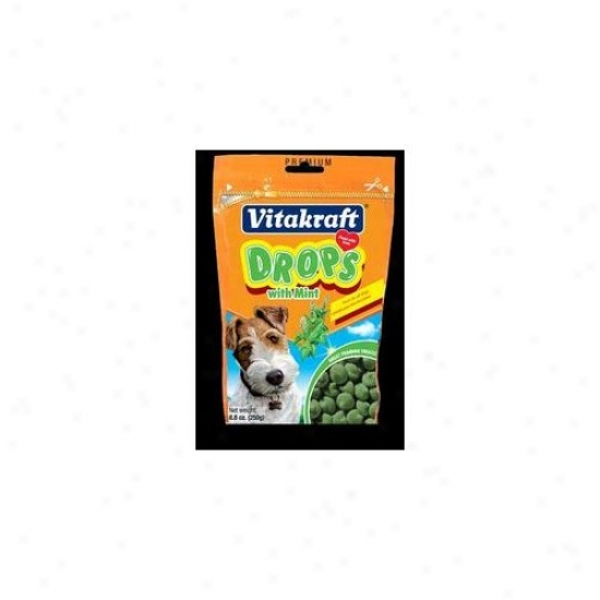 Vitakraft Mint Drops Dog Treat - 8.8 Oz.