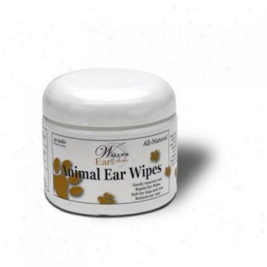 Wally's Natural Products Ear Wipes- Pet 50 Pack
