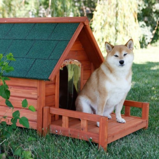 Ware Ultimate A-frame Dog House With Optional Patio & Door