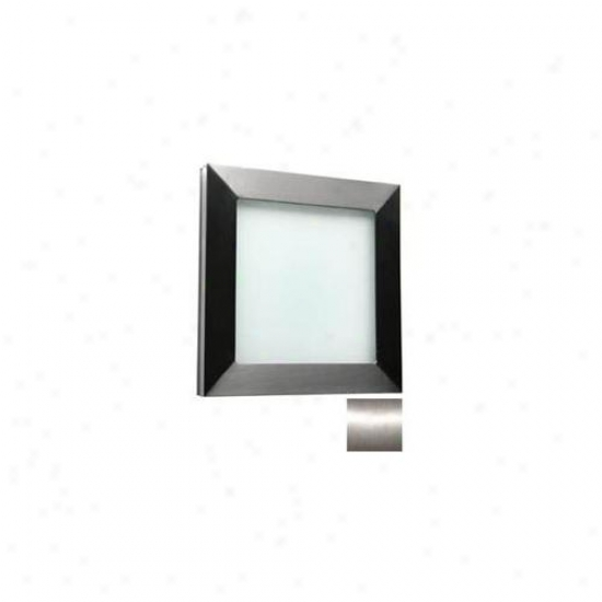 Wpt Design Basic Techo - Bs - Std Flush Mount Standard - Brushed Stainless