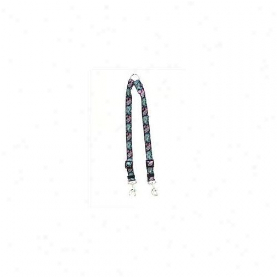 Yellow Dog Design Bhp109 Black Paisley Coupler Lead - Medium