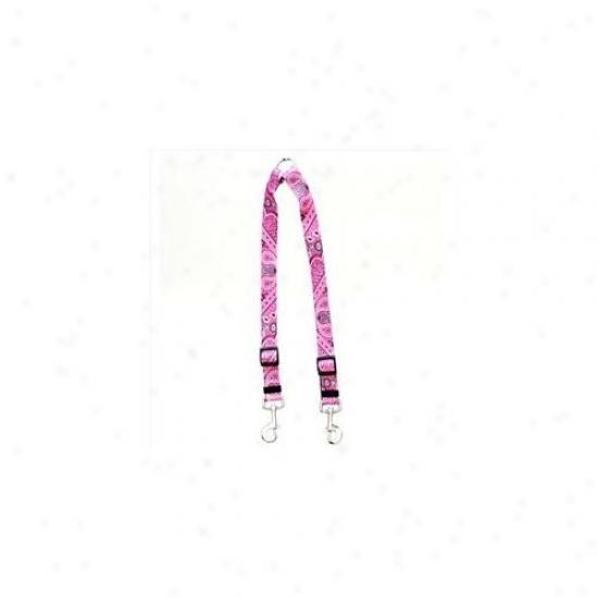 Yelloq Dog Design Bpk110 Bandana Pink Coupler Leaad - Large