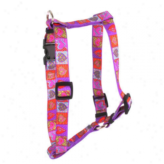 Yellow Dog Design Crazy Hearts Roman Harness