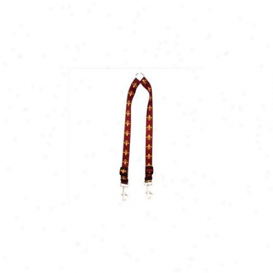 Yellow Dog Design Fdlr109 Fleur De Lis Red Coupler Lead - Medium