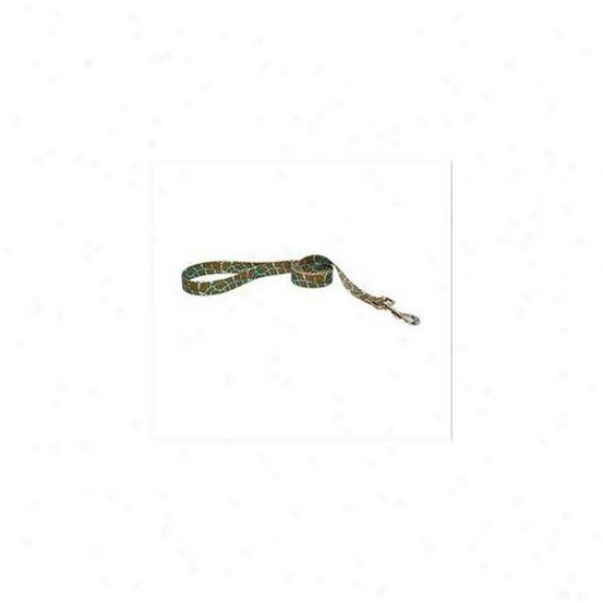 Yellow Dog Design Girt106ld 1 Inch X 60 Inch Giraffe Teal Lead