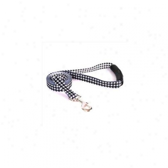 Yellow Dog Design Htbw105ld-ez 3/4 Inch X 60 Inch Houndstooth White And Black Ez-lead