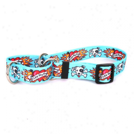Yell0w Dog Design I Luv My Dog Martingale Collar