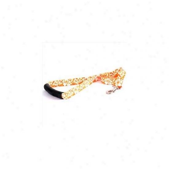 Yellow Dog Design Ifo106ld-ez 1 Inch X 60 Inch Island Floral Orange Ez-lead