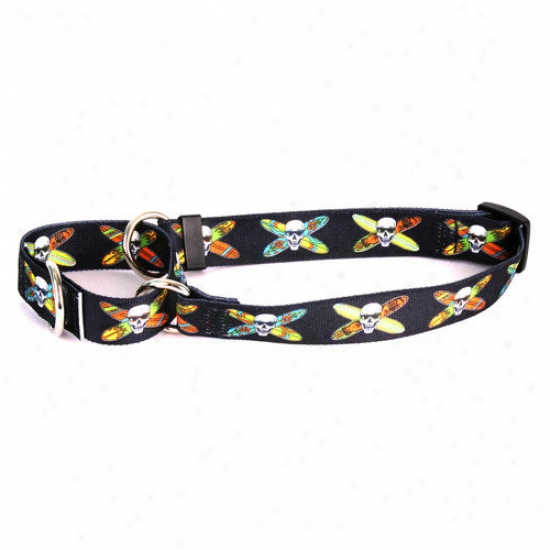Yellow Dog Design Longboard Skulls Martingale Collar