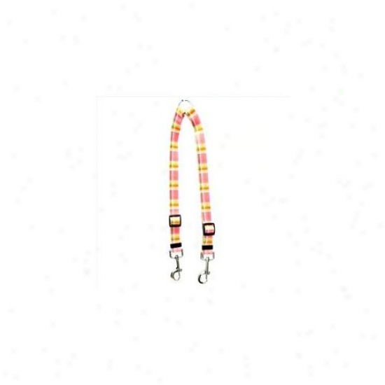 Yellow Dog Design Mdp108 Madras Pink Coupler Lead - Small