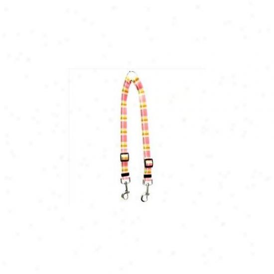 Golden Dog Sketch Mdp109 Madras Pink Coupler Lead - Medium