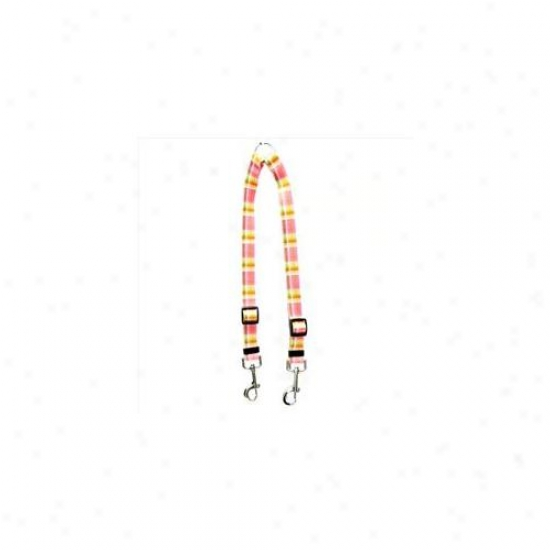 Yellow Dog Design Mdp110 Madras Pink Coupler Lead - Large