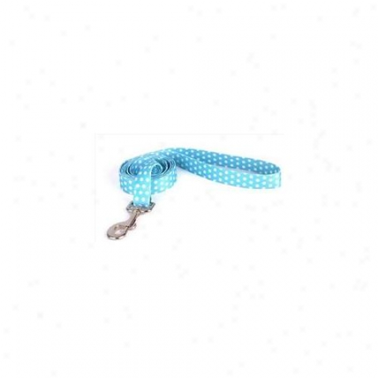 Yellow Dog Project Nbp106ld 1 Inch X 60 Inch New Blue Polka Dot Lead