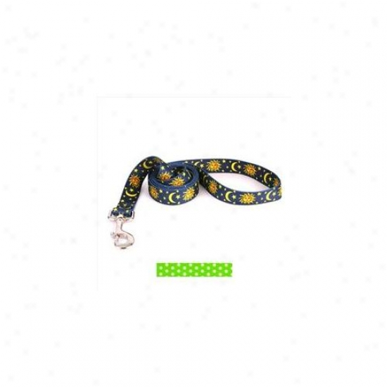 Yellow Dog Design Ngp106ld 1 Inch X 60 Inch New Green Polka Dot Lead