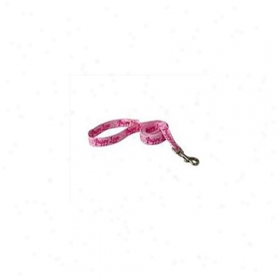 Yellow Dog Design Plp104ld Puppy Love Pink Lead - 3/8 Inch X 60 Inch