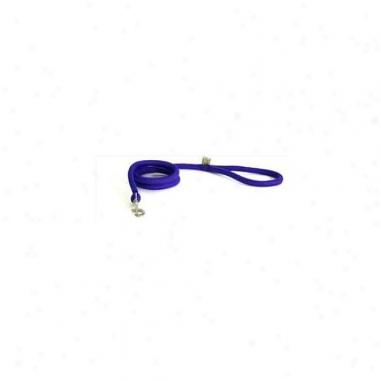 Yellow Dog Design Pur107ld Purple Rund Braided Lead - 3/4 Inch X 60 Inch