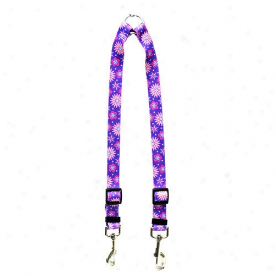 Yellow Dog Design Purple Flowers Coupler Lead