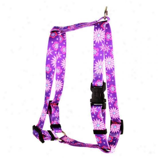 Yellow Dog Design Purple Flowers Roman Harness