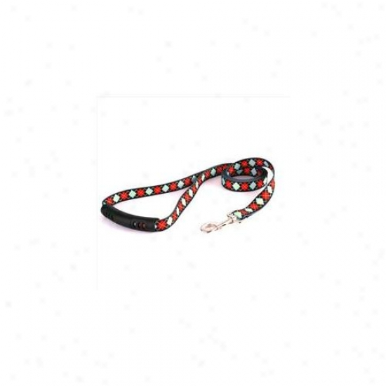 Yellow Dog Design Ra105ld-ez 3/4 Inchw X 60 Inchl Red Argyle Ez-lead