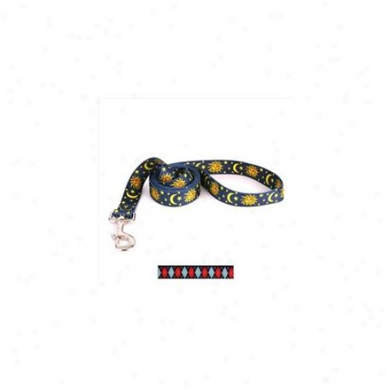 Yellow Dog Design Ra106ld 1 Inchw X 60 Inchl Red Argyle Lead