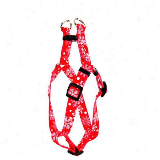 Yellow Dog Design Red Snowflakes Step-in Harness