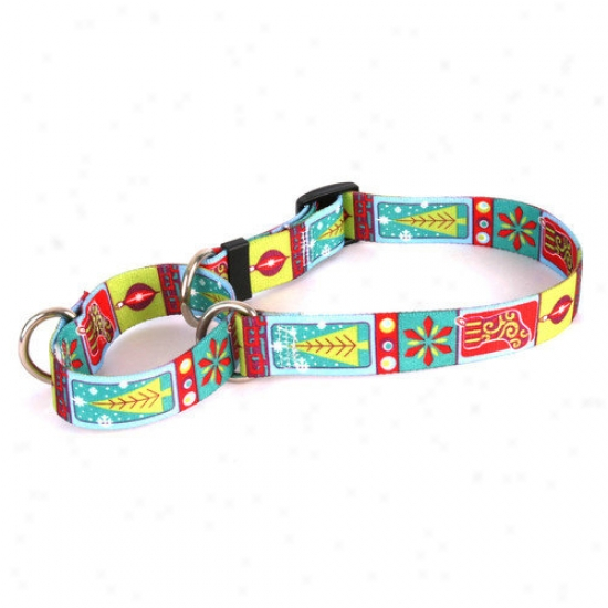 Yellow Dog Design Retro Christmas Martingale Collar