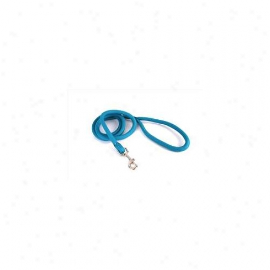 Yellow Dog Design Tel138ld Teal Round Braided Lead - 3/8 Inch X 60 Inch
