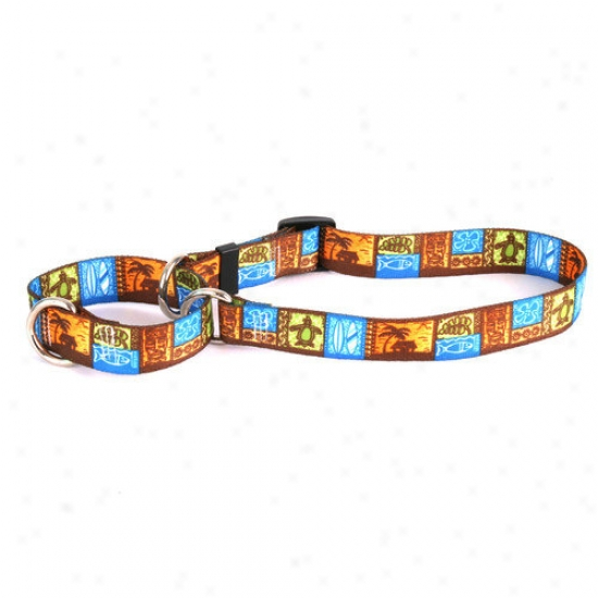 Yellow Dog Design Tiki Print Martingale Collar