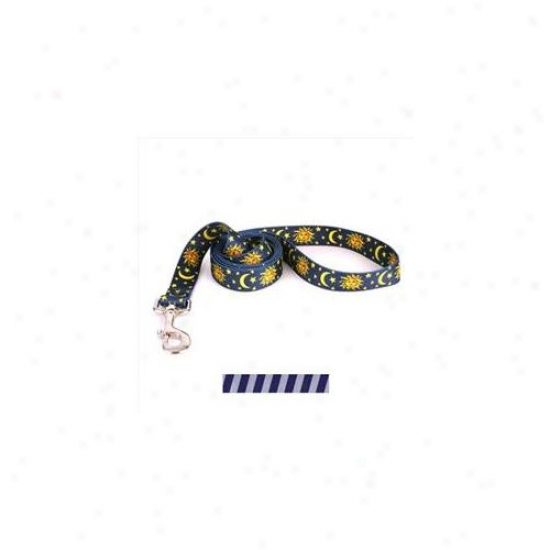 Yellow Dog Design Tsbus104ld Team Spirit Blue And Silver Lead - 3/8 Inch X 60 Inch