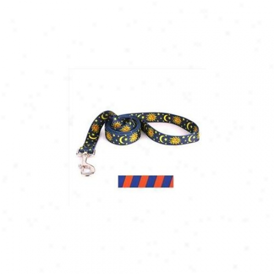 Yellow Dog Design sTob105ld 3/4 Inch X 60 Inch Team Spirit Orange And Blue Lead