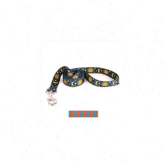 Yellow Dog Design Tsot104ld 3/8 Inch X 60 Inch Team Spirit Orange And Teal Lead